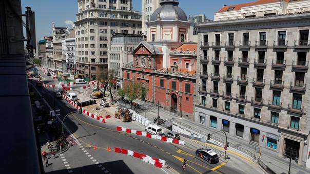 La calle Alcalá de Madrid fue cerrada debido al escape de gas.