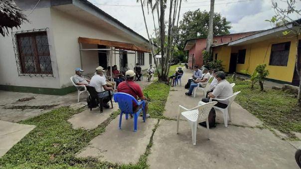 El presidente de Orpio, Jorge Perez Rubio, se reunió con líderes de las comunidades nativas para afrontar, de manera conjunta, la problemática que trae consigo la pandemia de la COVID-19.