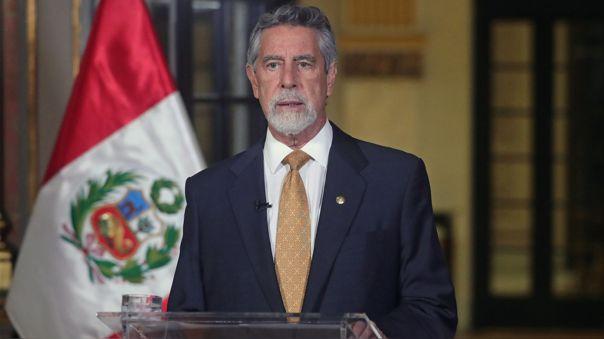El presidente Francisco Sagasti ofreció su último mensaje a la Nación