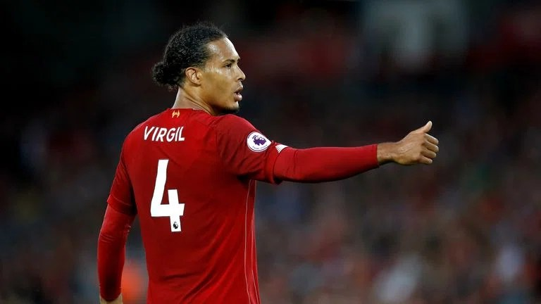 Liverpool's Virgil van Dijk during the Premier League match vs Norwich City