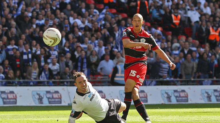 Bobby Zamora scores the winner against Derby in the play-of final
