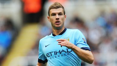 Edin Dzeko: Injured at QPR on Saturday