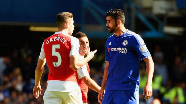 Arsenal defender Gabriel and Chelsea's Diego Costa have been charged by the Football Association