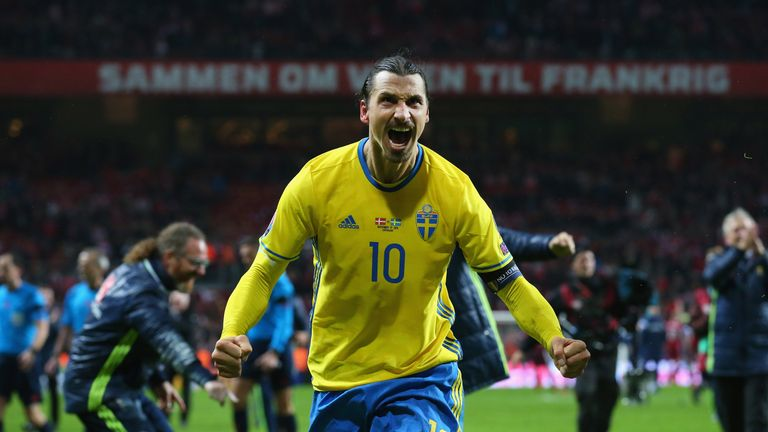 Zlatan Ibrahimovic features in Sweden's squad