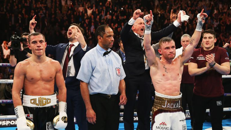 Carl Frampton claimed a points win over Scott Quigg in Manchester