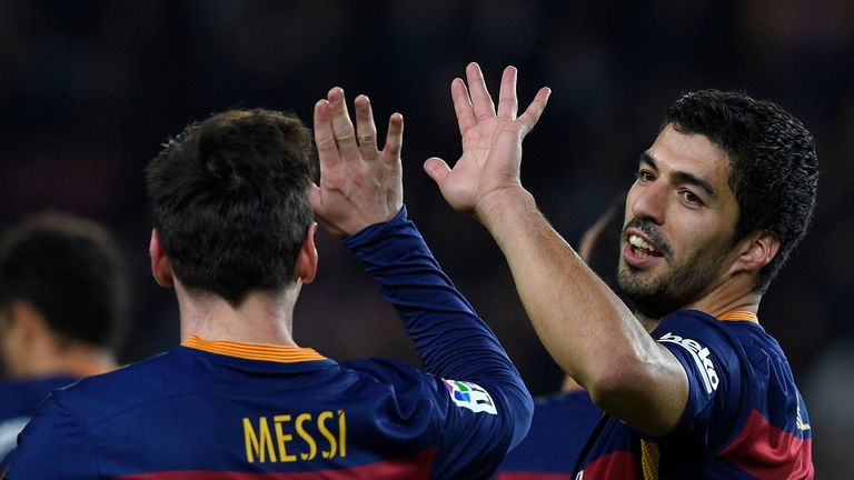 Lionel Messi and Suarez enjoyed a good night in front of goal