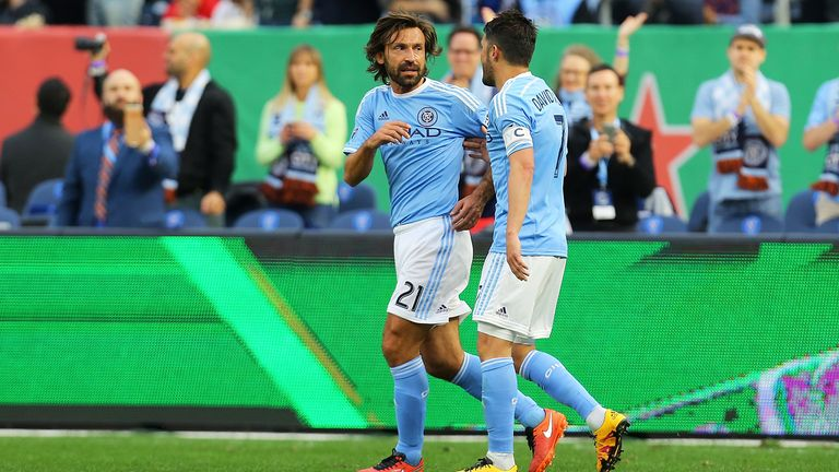 Andrea Pirlo and David Villa (right) have been named in the MLS All-Star squad