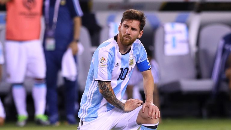 Messi said in June that he would not play for Argentina again after the team lost to Chile in the final of the Copa America