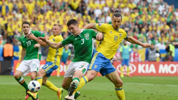 Zlatan Ibrahimovic in action against Republic of Ireland in Paris
