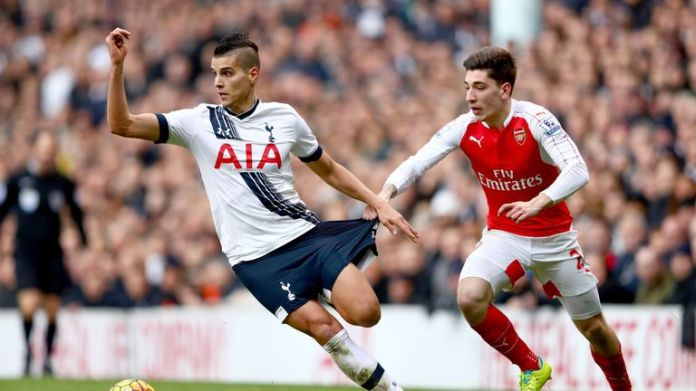 Hector Bellerin's undershorts are the same colour as his shorts