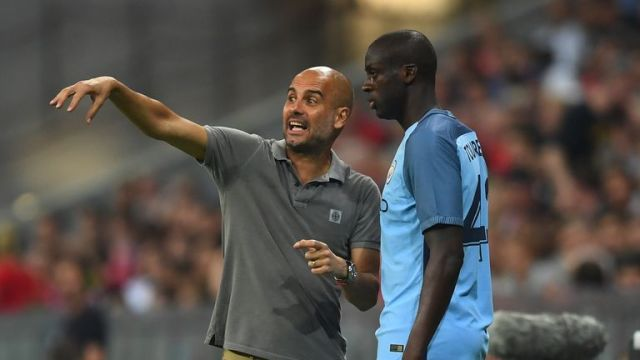 Yaya Toure fell out with boss Pep Guardiola
