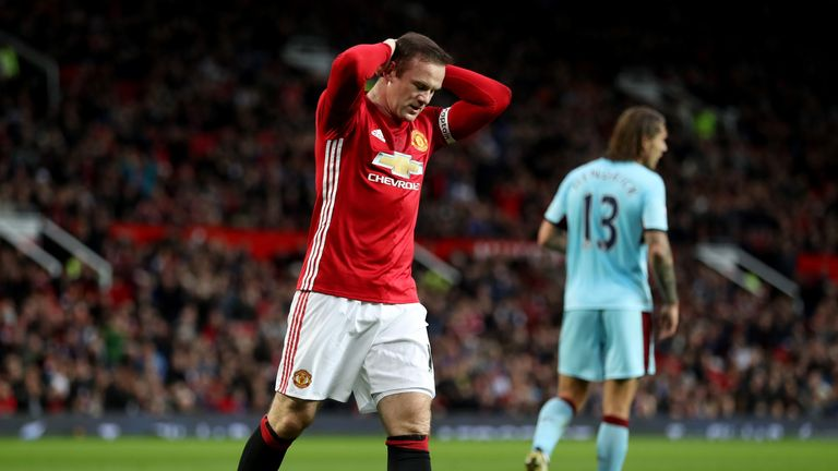 Rooney scored just two goals in 14 appearances for United this season