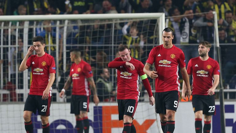 Man United lost 2-1 at Fenerbahce on Thursday