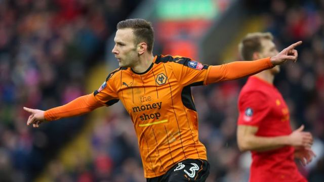 Andreas Weimann scored for Wolves against Liverpool in the previous round