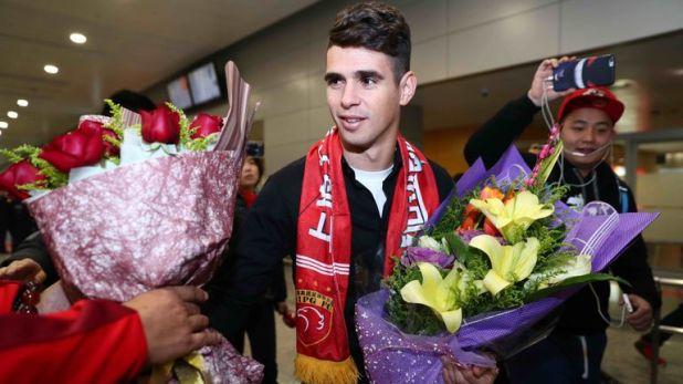 Former Chelsea forward Oscar moved to Shanghai Shenhua in 2017