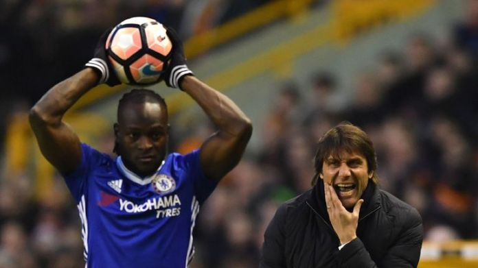 Moses has shown his gratitude to Antonio Conte for giving him a chance to impress at Chelsea
