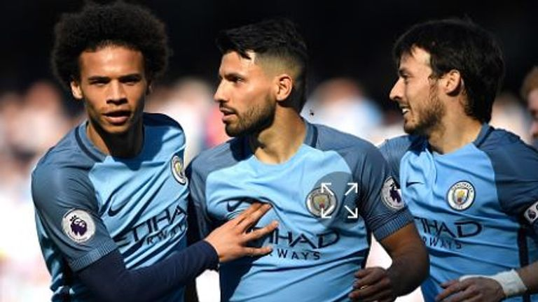 Sergio Aguero and David Silva are missing for Pep Guardiola's side
