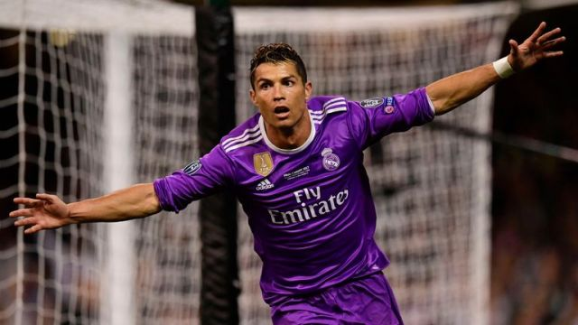 Cristiano Ronaldo scored twice as Real Madrid retained their Champions League title for the first time