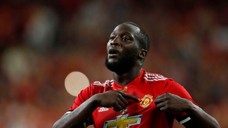 Romelu Lukaku scored the opener in United's 2-0 win over rivals Manchester City