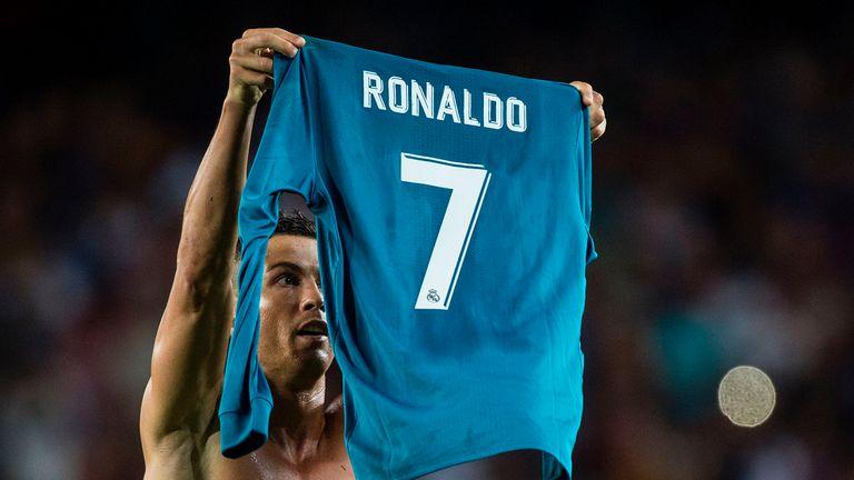Ronaldo took his shirt off after scoring