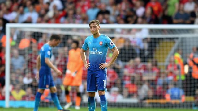 Image result for mesut ozil vs liverpool august 2017