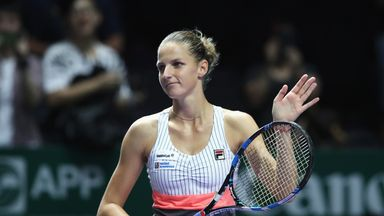 Karolina Pliskova was imperious against Wimbledon champion Garbine Muguruza