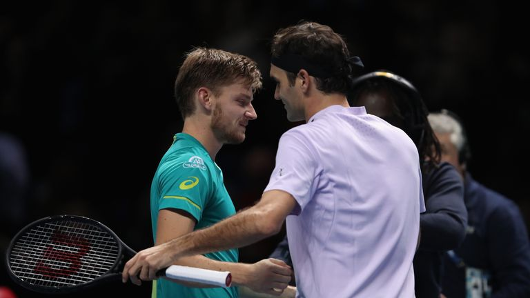 Image result for Roger Federer offers no excuses for his shock defeat by David Goffin at ATP Finals