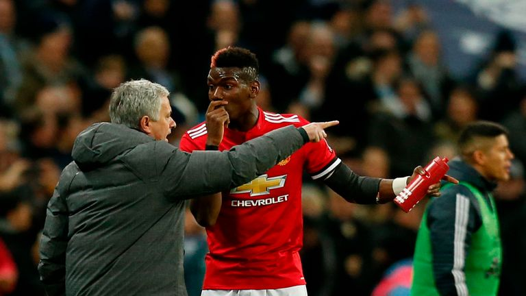 Mourinho dropped Pogba for the win over Huddersfield, but insists reports his relationship with the Frenchman has broken down are 'lies'