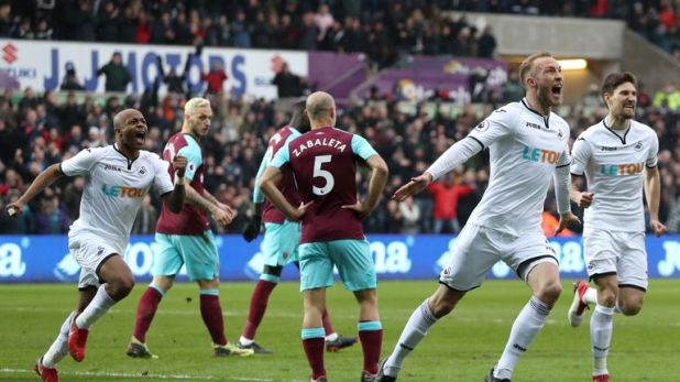 Mike van der Hoorn is Swansea's solitary senior central defender.