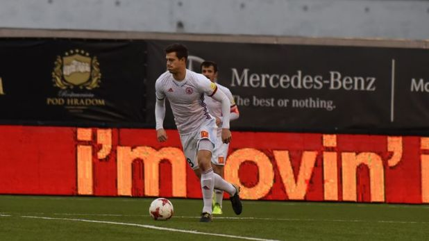 Lawrence in action for Slovakian side AS Trencin [Credit: AS Trencin]
