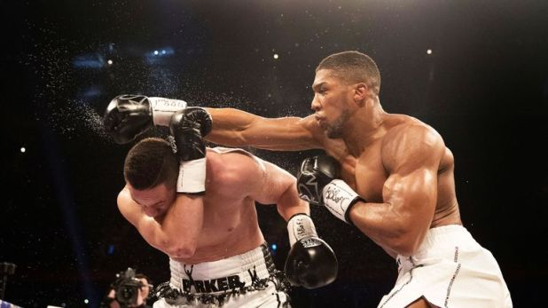 Joshua's accurate jab was his most potent weapon in the fight