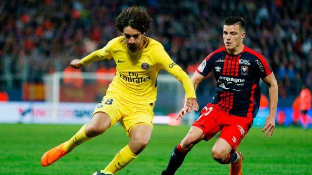 Yacine Aldi made his debut for PSG last season