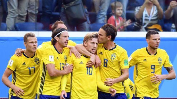 Sweden beat Switzerland 1-0 in the last 16
