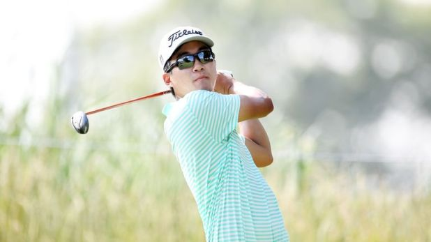 Michael Kim has eased clear at TPC Deere Run