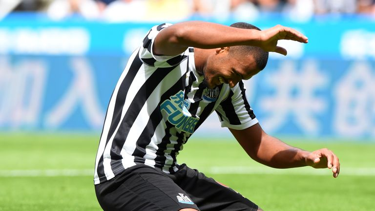 Salomon Rondon is in contention for a full Newcastle debut