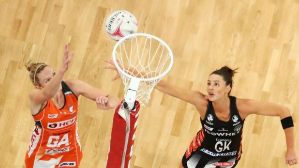 Sharni Layton will be aiming to block shooters from taking long-range shots