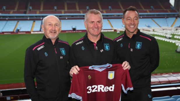John Terry (right) has joined Aston Villa's coaching team