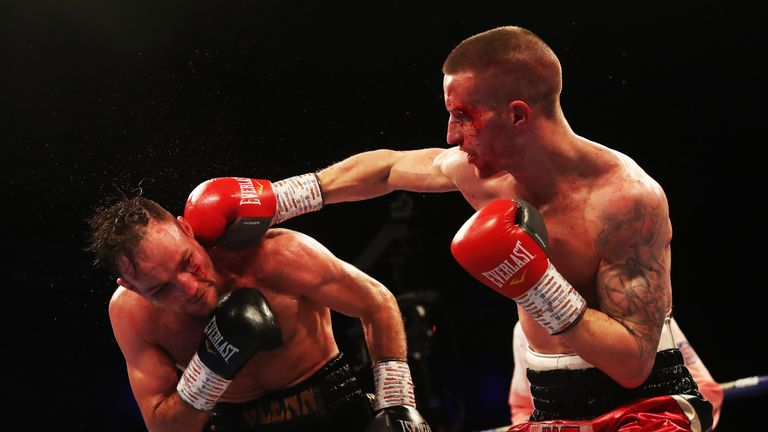 Robbie Davies Jnr had to overcome a nasty cut on his way to victory