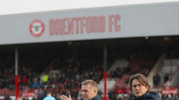 Thomas Frank (right) was Dean Smith's right-hand man at Brentford