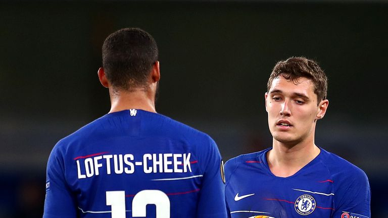 Ruben Loftus-Cheek and Andreas Christensen could feature for Chelsea