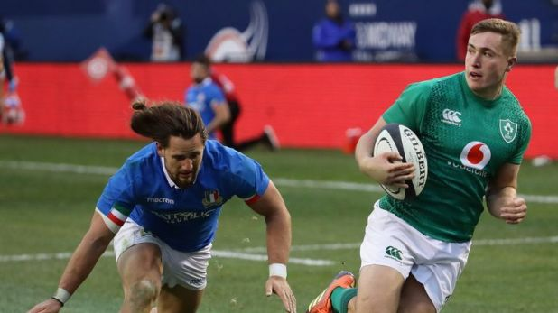 Jordan Larmour was superb against Italy in Chicago