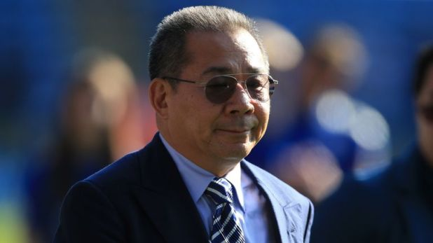 Vichai Srivaddhanaprabha was remembered by Watford fans at the King Power Stadium on Saturday