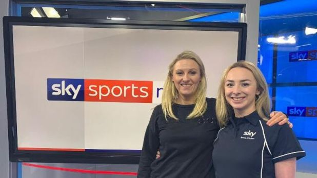 SSN presenter and reporter Jane Dougall showing Ellen the ropes