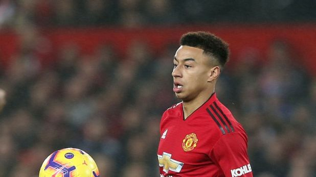 Jesse Lingard in action during the Premier League match between Manchester United and Arsenal