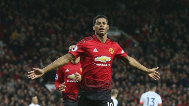 Marcus Rashford is in a rich vein of form for Manchester United
