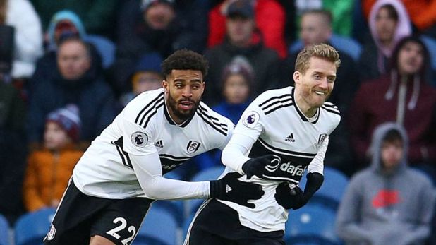 Fulham's Andre Schurrle gave Fulham the lead with a stunning strike before it was cancelled out by two own goals