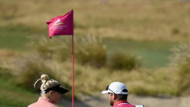 Hull raced to four under but added only one further birdie
