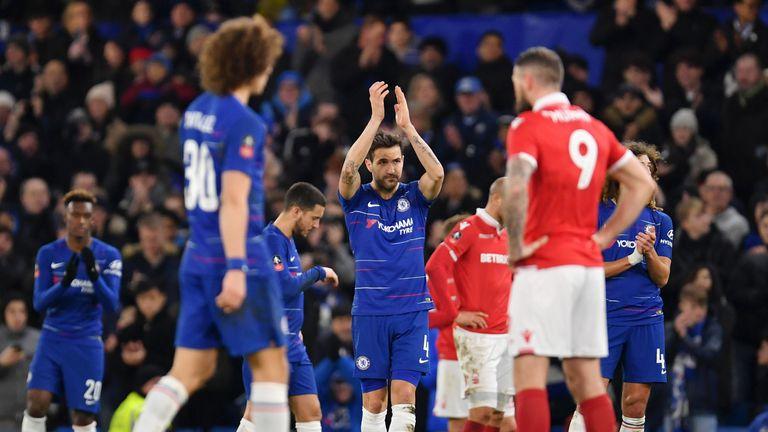 Fabregas a reçu une ovation debout dans les dernières minutes