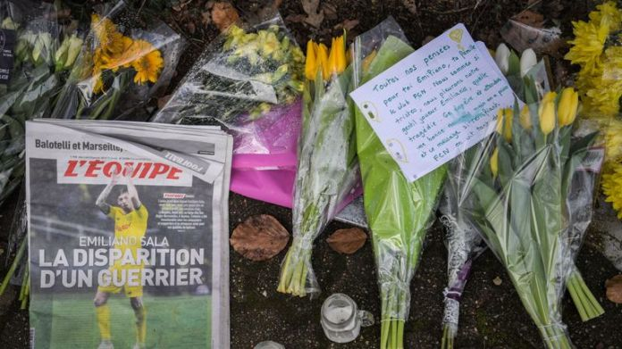 Tributes have continued to be paid to Sala in Nantes