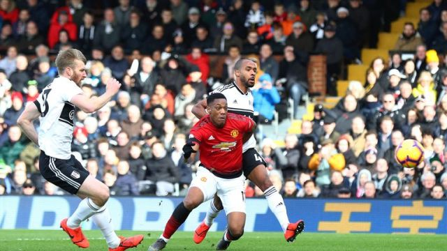 Martial's goal against Fulham was his ninth in the Premier League this season
